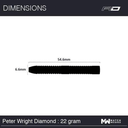 Red Dragon Šípky Steel Peter Wright Snakebite World Champion Diamond - 22g