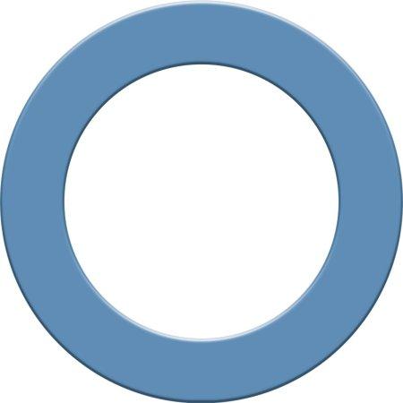 Designa Surround - kruh okolo terča - Sky Blue