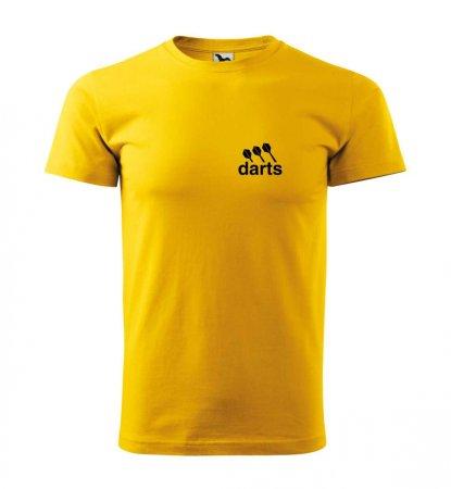 Malfini Tričko s potlačou - Darts - yellow - S