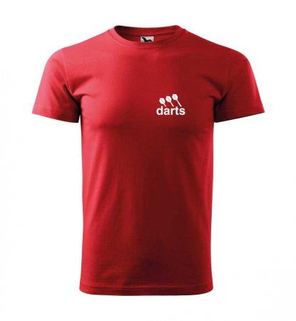 Malfini Tričko s potlačou - Darts - red - L
