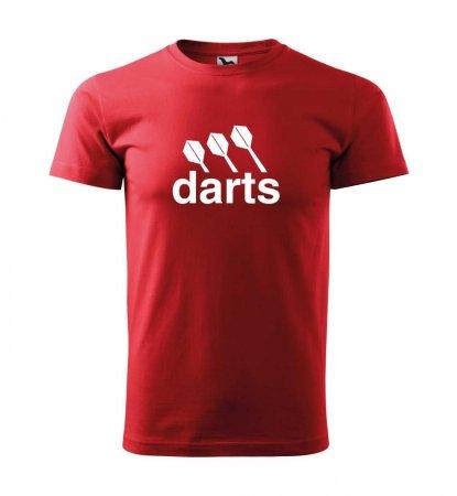 Malfini Tričko s potlačou - Darts center - red - XS