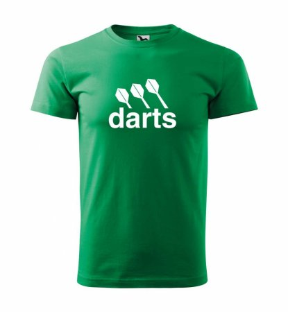 Malfini Tričko s potlačou - Darts center - green - 3XL