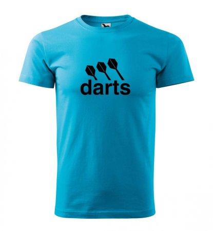 Malfini Tričko s potlačou - Darts center - turquoise - M