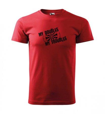 Malfini Tričko s potlačou - Troubles - red - S