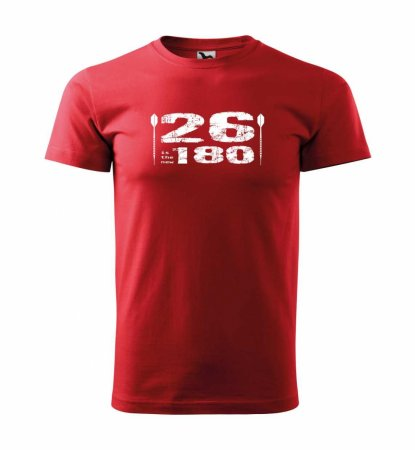 Malfini Tričko s potlačou - 26 - red - M