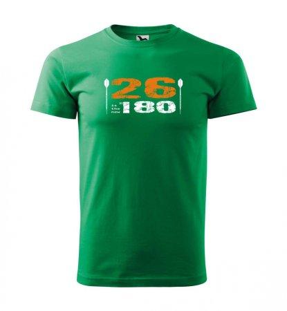 Malfini Tričko s potlačou - 26 - green - XXL