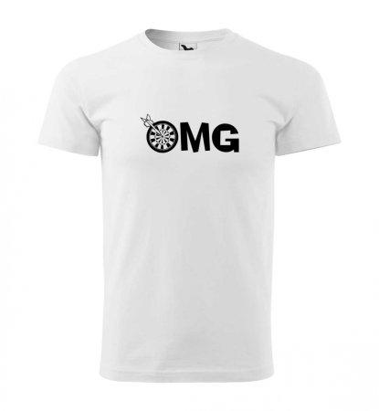 Malfini Tričko s potlačou - OMG - white - 4XL