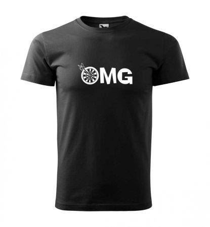 Malfini Tričko s potlačou - OMG - black - XS
