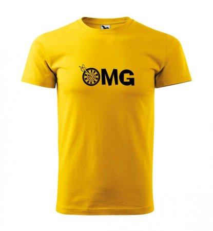 Malfini Tričko s potlačou - OMG - yellow - XS
