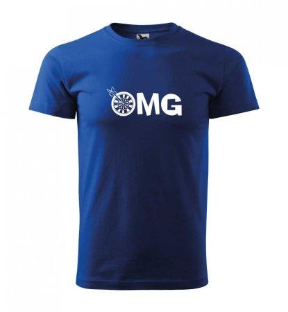 Malfini Tričko s potlačou - OMG - blue - 4XL