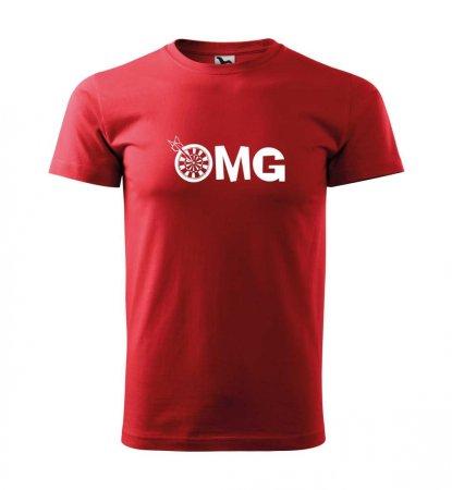 Malfini Tričko s potlačou - OMG - red - XL