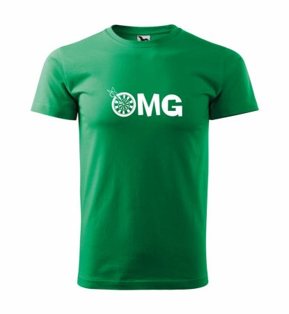 Malfini Tričko s potlačou - OMG - green - XS