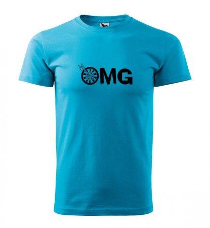 Malfini Tričko s potlačou - OMG - turquoise - XL