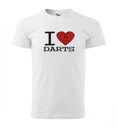 Malfini Tričko s potlačou - I Love Darts - white - XL