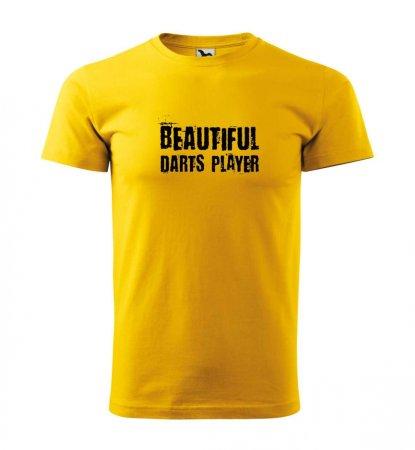 Malfini Tričko s potlačou - Beautiful - yellow - L