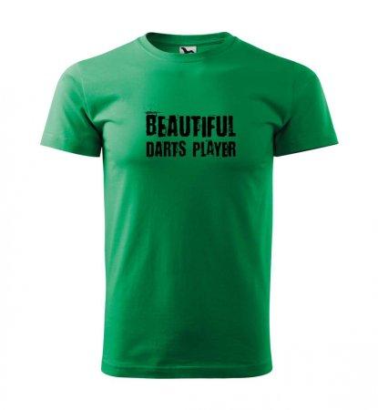 Malfini Tričko s potlačou - Beautiful - green - XL