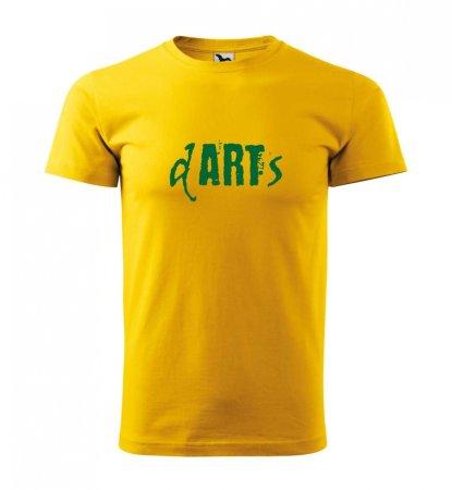 Malfini Tričko s potlačou - Art - yellow - S