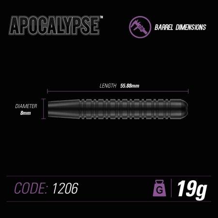 Winmau Šípky Steel Apocalypse - Style 1 - 19g