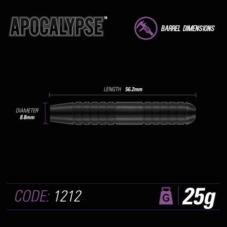 Winmau Šípky Steel Apocalypse - Style 3 - 25g
