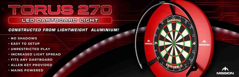 Mission Torus 270 Light - osvetlenie sisalového terča