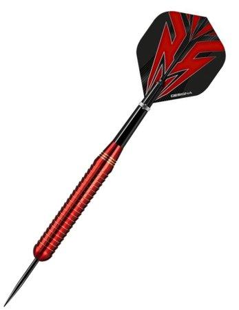 Designa Šípky Steel Mako - Shark - Red - 26g