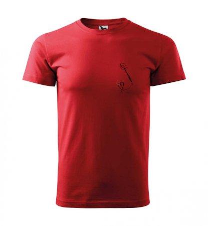 Malfini Tričko s potlačou - Srdiečko - red - XS