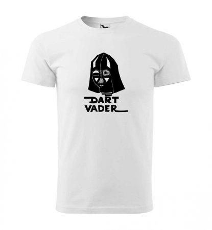 Malfini Tričko s potlačou - Dart Vader - white - S