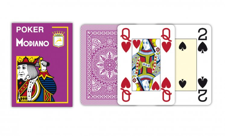 Modiano Texas Poker Size - 4 Jumbo Index - Profi plastové karty - tmavozelená - tmavo zelená