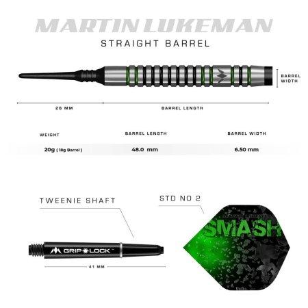 Mission Šípky Martin Lukeman - Black & Green - 20g