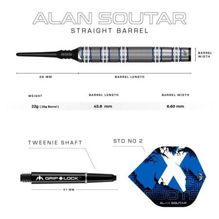 Mission Šípky Alan Soutar - Blue & White - 22g