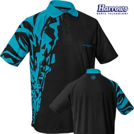 Harrows Košeľa Rapide - Black & Aqua Blue - 4XL