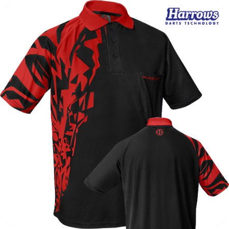 Harrows Košeľa Rapide - Black & Red - XXL