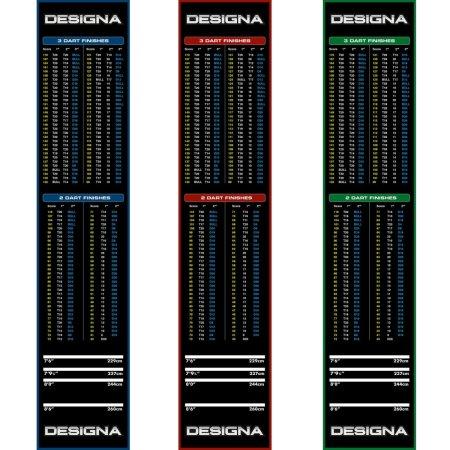 Designa Dart Mat Checkout - Koberec k terču - Red
