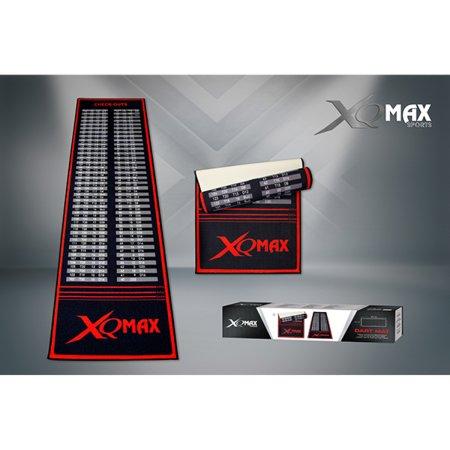 XQMax Darts Dart Mat Checkout - Koberec k terču - black-red