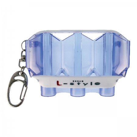 L Style Puzdro na šípky Krystal Flight Case - clear blue