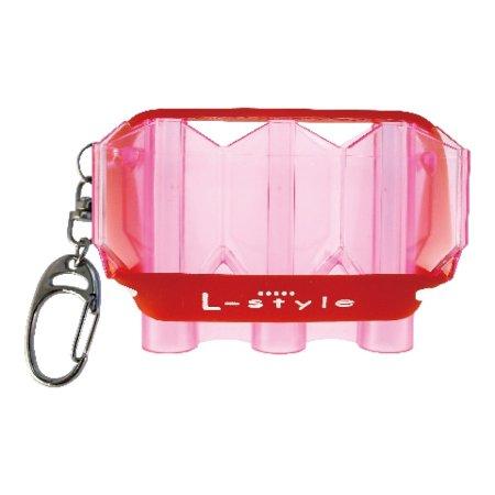 L Style Puzdro na šípky Krystal Flight Case - clear pink