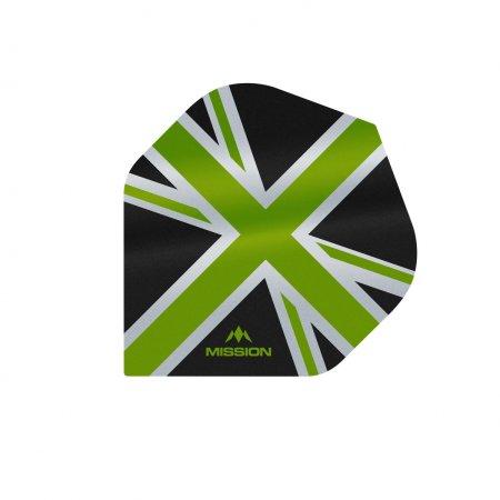 Mission Letky Alliance Union Jack - Black / Green F3083