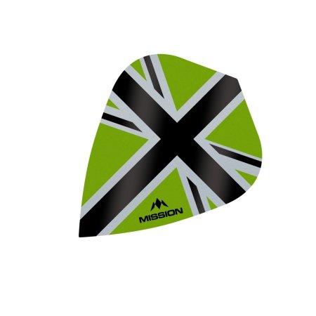 Mission Letky Alliance-X Union Jack - Green / Black F3114