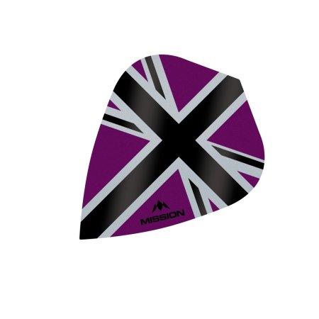 Mission Letky Alliance-X Union Jack - Purple / Black F3116