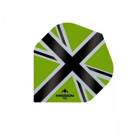 Mission Letky Alliance-X Union Jack - 150 - Green / Black F3140