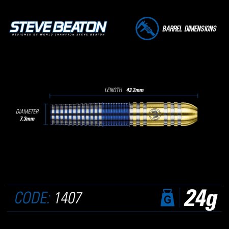 Winmau Šípky Steel Steve Beaton - 24g
