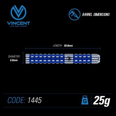 Winmau Šípky Steel Vincent Van Der Voort - 25g