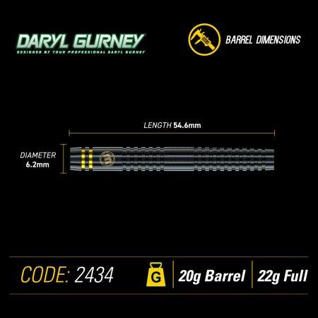 Winmau Šípky Daryl Gurney - Black Edition - 22g
